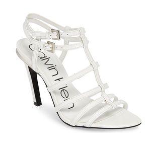 NEW Calvin Klein Gili Box Leather Sandal Size 9M